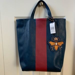 Saks 5th Ave Vegan Leather Queen Bee Tote Bag New